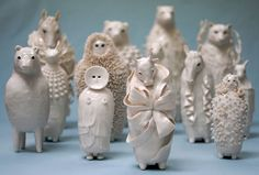 Sophie Woodrow is a ceramic artist. Working in porcelain, she hand builds delicate and ethereal animal and human forms.