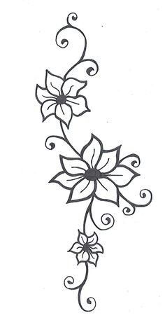 Flower Vine Tattoos Womens Back I Want This On My Arm Tattoo Me