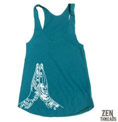 Womens NAMASTE american apparel TriBlend Racerback by ZenThreads, $18.00