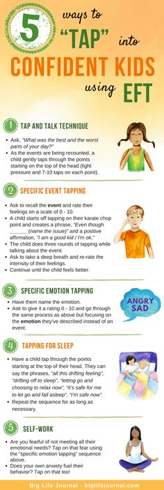 """5 Easy Ways to """"Tap"""" into Confident Kids Using EFT – Big Life Journal health activities health care health ideas health tips healthy meals Coping Skills, Life Skills, Kids And Parenting, Parenting Hacks, Mindful Parenting, Natural Parenting, Gentle Parenting, Kids Mental Health, Children Health"""