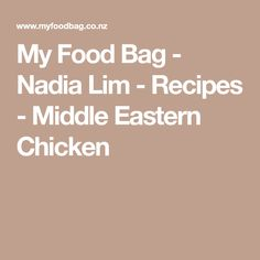 My Food Bag - Nadia Lim - Recipes - Middle Eastern Chicken Middle Eastern Chicken, Roasted Cauliflower Salad, Garlic Paste, Baby Spinach, I Foods, Dinner Recipes, Bag, Bags, Supper Recipes
