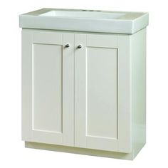 Magick Woods White Adrian Vanity Base And Top 30 Inch 48236 Home