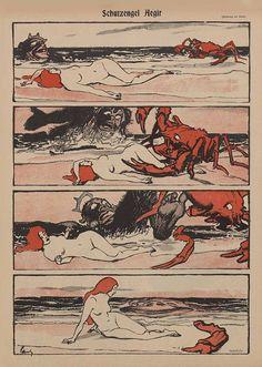 Wilhelm Schulz, « Schutzengel Ägir », Simplicissimus, n° 41, du 9 janvier 1897.