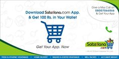 3Get your App now !!  goo.gl/LVGhmK Say hello to Sabzilana.com @ 7304040040 #sabzilana.com ‪#‎mobile‬ ‪#‎shopping‬ ‪#‎nagpur‬