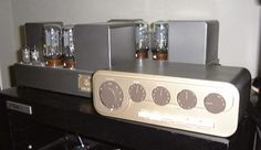 Vintage QUAD 22 and II amplifiers