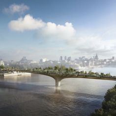 Designer Thomas Heatherwick has revealed new images of his proposed Garden Bridge across London's River Thames, which is scheduled for completion in Thomas Heatherwick, Walkable City, Terence Conran, Fantasy Places, Urban Photography, New Image, Garden Bridge, Adventure Travel, Beautiful Places