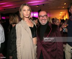 Sarah Brandner with Micky Rosen, owner of Gekko Group during the opening party of Roomers Munich & Izakaya.