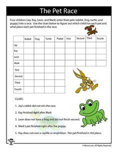 Pets Expert Logic Puzzle | Woo! Jr. Kids Activities