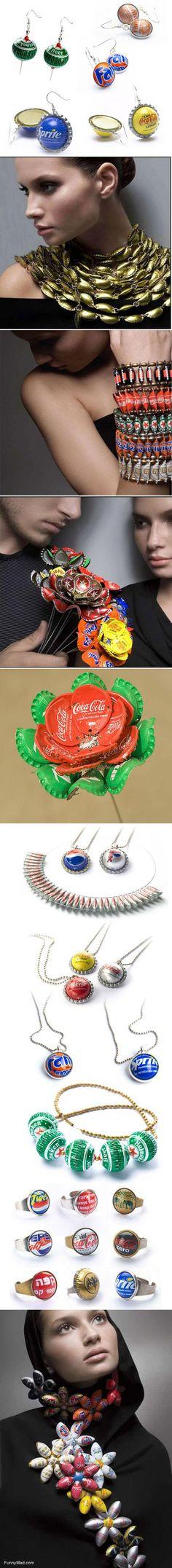 Bottle Cap Jewelry #diy #craft