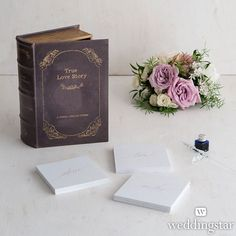 Romantic Vintage Book Box Set for Collecting Wishing Well Cards from HotRef.com #wellwish
