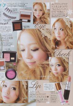 Gyaru Makeup, Doll Makeup, Beauty Makeup, Face Makeup, Everyday Makeup Tutorials, Korean Makeup Tutorials, Korean Eye Makeup, Asian Makeup, Maquillaje Gyaru