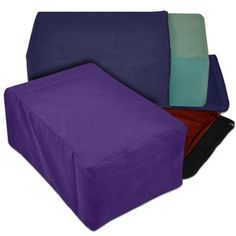 Give your yoga blocks a new lease on life with these attractive, 100% cotton YOGAaccessories yoga block covers. Yoga block covers help preserve your yoga blocks while adding a soft feel, and since it's washable, the working surface is clean and sanitary. Simply slip your block into the cover and zip to secure or remove. Cotton covers fit easily over any 4'' yoga block. A must for all yoga studios!