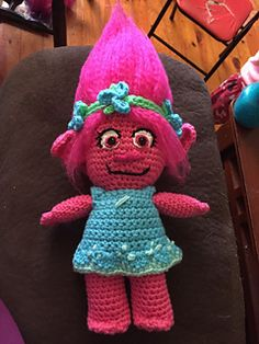 This is a crochet Poppy Troll Doll that I've been working on. There are plenty of pictures to help you along with your crocheting. If you have any questions send me a message.