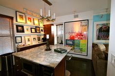 counter Kitchen New York, Counter, Kitchen Ideas, Flat Screen, Nyc, Contemporary, Flat Screen Display, New York City