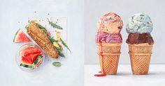 Joel Penkman la ilustración de comida más fresca !! #JoelPenkman #ilustration #ilustracion #paint #pintura #art #arte #food #comida