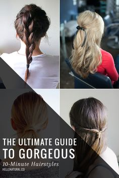 10-Minute Hairstyles | HelloNatural.co