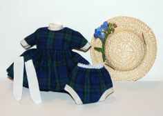 REMAKE  Betsy McCall Dress + Panties + Hat + Socks = all custom made BOXED