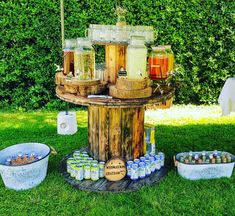Looking for a self serve drinks idea? Look no further our unique and awesome rustic cable reel self serve bars are the all talked about mobile bar! Sweet Cart Hire, Sweet Carts, Festival Wedding, Festival Party, Cake Table Backdrop, Backyard Wedding Decorations, Village Fete, Informal Weddings, Lace Table Runners