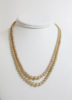 Vintage Necklace Faux Pearls with Art Deco Rhinestone by FairSails, $5.25
