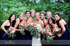 peter allen house wedding photo bride bridesmaids
