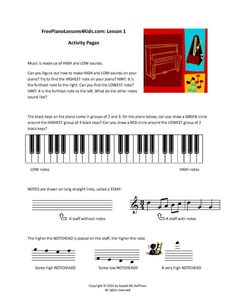 Free Online Piano Lessons For Kids - Lessons