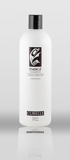 Curelle Energe Shampoo (Normal to Fine/Thin hair) - Fragrance-free. Contains non-gmo ingredients, propylene-glycol free, gluten-free, safe for coloured hair. #fragrancefree #unscented #scentfree #glutenfree #nongmo