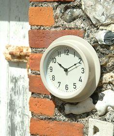 8 inch Waterproof Outdoor Garden Clock from Garden Trading