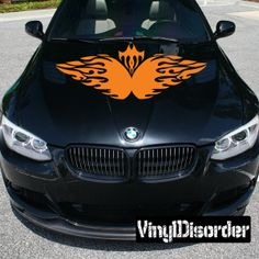 Tribal Flames Wall Decal - Vinyl Decal - Car Decal - SM041