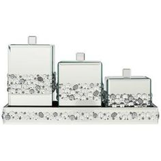 Jeweled Mirror Canisters 4-Piece Bathroom Accessory Set by Lamps Plus, http://www.amazon.com/dp/B009Q3OMWY/ref=cm_sw_r_pi_dp_6sdGqb0MMYMN8