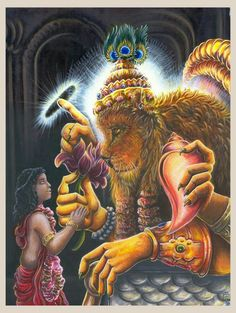 """Deepika.dk's pinboard trails~*~Prahlada Maharaja loudly chanted the holy name of Lord Nrisimha. May Lord Nrisimhadeva, roaring for His devotee, Prahlada Maharaja, protect us from all fear of dangers created by stalwart leaders in all directions through poison, weapons, water, fire, air, and so on. May the Lord cover their influence by His own transcendental influence. May Nrisimhadeva protect us from all directions and in all corners, above, below, within and without."""""""