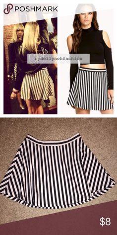 Black and White stripe skirt Black and white stripe skirt from forever 21. Same skirt Rydel Lynch wore in Huntington, NY on tour with R5 Forever 21 Skirts Circle & Skater