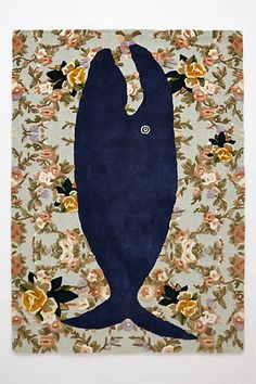 how incredible is this whale rug from @anthropologie