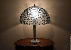 Настольная лампа  `Кристалл`, стекло, Тиффани, D- 40 см, 702 детали.
