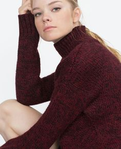 Discover the new ZARA collection online. The latest trends for Woman, Man, Kids and next season's ad campaigns. Zara Women, Preppy, Sweater Cardigan, Knitwear, Autumn Fashion, Fashion Accessories, Golf, Classy, Turtle Neck
