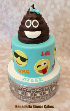 Girly Poop Emoji Cake by Benedetta Rienzo Cakes