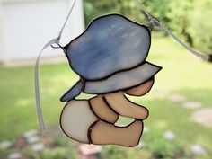 Beach Baby Boy Stained Glass Suncatcher by GlassofDistinction, $18.95