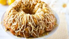 Lemon Monkey Bread with a Lemon Glaze.