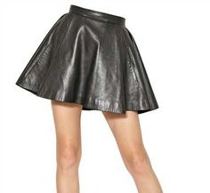 Flounced Leather Skirt - # 141 - 50 Colors [Flounced Leather Skirt - # 141] - $110.00 : LeatherCult.com, Leather Jeans | Jackets | Suits