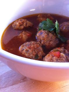 Jaimie's Meatball Soup Stupid Easy Paleo - Easy Paleo Recipes to Help You Just Eat Real Food (sub out yams) Whole30 Soup Recipes, Paleo Recipes Easy, Whole 30 Recipes, Whole Food Recipes, Primal Recipes, Paleo Meals, Supper Recipes, Clean Recipes, Free Recipes