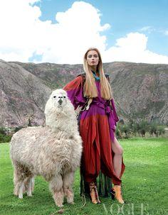 Incan Princess: Vogue travels to Peru #Fashion Inspiration - Latin America