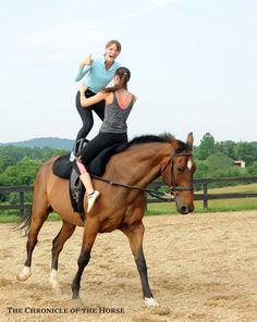 Acrobatics on a horse