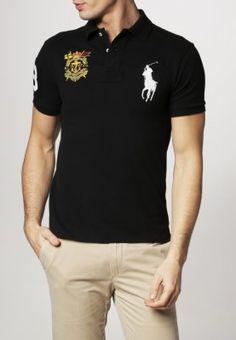 be03b98a6403 Polo Ralph Lauren - SLIM FIT - Poloshirt - schwarz Gute Vorsätze, Coole  Klamotten,