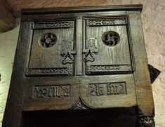 AN EXCEEDINGLY RARE AND IMPORTANT MEDIEVAL OAK CONFESSIONAL CHAIR. NORMAN. CIRCA 1470. Small Wooden Shelf, Mercy Seat, Medieval Furniture, European History, American History, Cardboard Castle, Chalkboard Drawings, Wood Carving Designs, Medieval Times