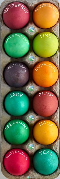 Easter Egg Dye with Color Chart Recipe Easter egg dye, Egg dye - food coloring chart