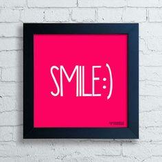 Quadro Decorativo Smile - Moldura Preta-preço:42,90-encadreeposters.com.br
