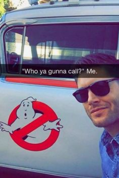 This is my favorite thing. <<< Fuck the Ghostbusters, gimme the Winchester brother's! Castiel, Supernatural Fans, Supernatural Drawings, Jensen Ackles Supernatural, Dean Winchester, Winchester Brothers, Fangirl, The Ghostbusters, Ange Demon
