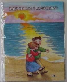 Mary Engelbreit Magnet LOVE ONE ANOTHER