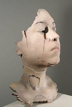 Sophie Kahn | Sculpture Laura:RGB, 2011 Full color 3d print, life-size,