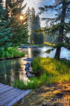 Beautiful place to go camping, fishing, and kayaking  - Island  Park, Idaho, USA
