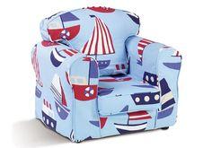 Sailboat Light Blue Childrens Armchair